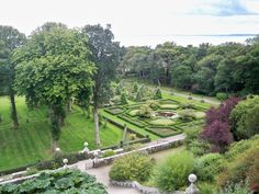 The beautiful gardens at Dunrobin Castle, Golspie, home of the Duke and Duchess of Sutherland.