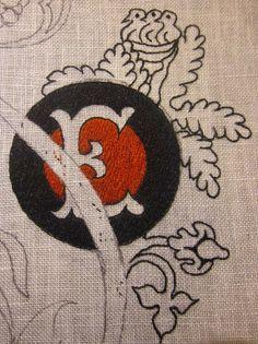Элизабет ручная вышивка: Сувенир собора Сиены