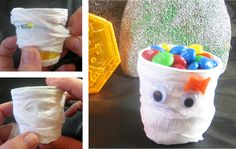 Easy Halloween Crafts for Kids - Mummy Cups
