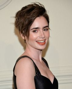 lily collins pixie cut - Google Search