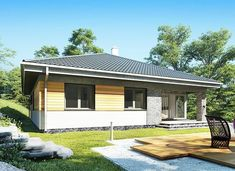 Blanka - murowana – beton komórkowy - zdjęcie 4 Backyard House, Bungalow House Plans, House Design, Outdoor Decor, Home Decor, Conversation, Houses, Home, Plant