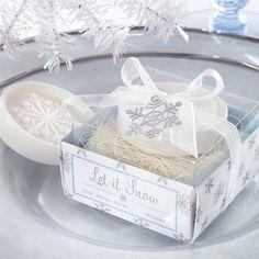 Winter Wedding Favor Ideas and Inspirations: Snow Flake Soap. http://memorablewedding.blogspot.com/2013/11/winter-wedding-favor-ideas-and.html