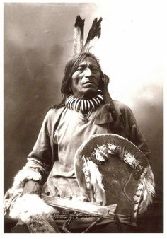 "Fool Bull, ""Tatanka Witko"", Brule Sioux Medicine Man and warrior. Photo by John A. Anderson, 1900."