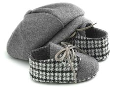 Hey, I found this really awesome Etsy listing at http://www.etsy.com/listing/108792355/lucas-baby-boy-hat-and-shoes-set-grey