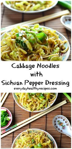 Cabbage Noodles with Sichuan Pepper Dressing