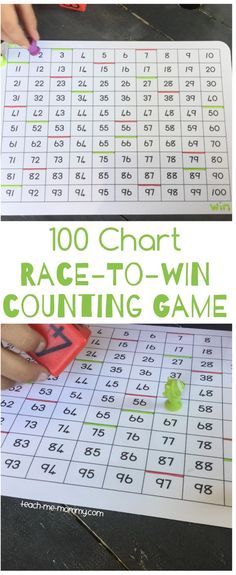 100 Chart Race-to-Win Counting Game