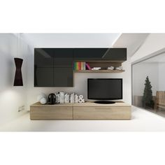 Entertainment centers don't have to be an eyesore in your living space. The Trasman Isola Wall Unit Entertainment Center offers a chic place to. Open Shelving, Shelves, Floating Entertainment Center, Entertainment Area, Modern Tv Cabinet, Rack Tv, Tv Cabinets, Storage Cabinets, Cabinet Design