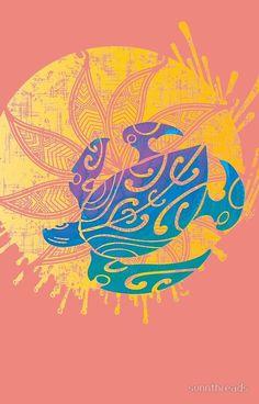 'Hawaiian Liquid Sunshine Turtle ' iPhone Case by sunnthreads Iphone Wallpaper Sea, Sea Turtle Wallpaper, Tumblr Wallpaper, Cute Summer Wallpapers, Cute Wallpapers, Tribal Sun, Diy Wall Decor For Bedroom, Hawaiian Tribal, Turtle Pattern