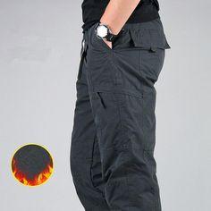 6894737657ba4 Winter Thicken Fleece Cargo Pants Men'S Double Layer Military Army Cam –  FuzWeb