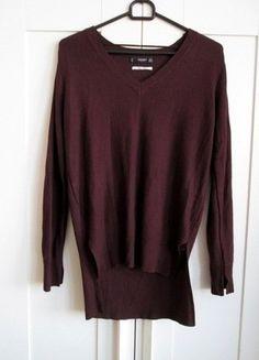 Kup mój przedmiot na #vintedpl http://www.vinted.pl/damska-odziez/swetry-z-dekoltem/15920344-bordowy-sweter-mango-z-domieszka-welny-36-s