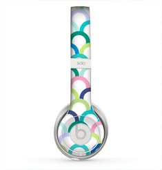 The Vibrant Fun Colored Pattern Hoops Skin for the Beats by Dre Solo 2 Headphones from Design Skinz, INC.