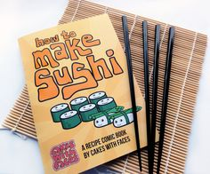 How to Make Sushi Recipe Comic Book Gift Set With Japanese
