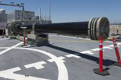 The Navy's experimental railgun fires a hardened projectile at staggering velocity—a battlefield meteorite with the power to blow holes in enemy ships and level terrorist camps.