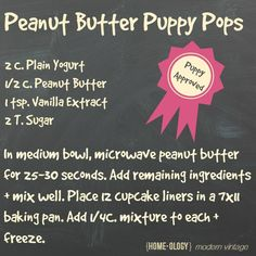 Recipe Love - Peanut Butter Puppy Pops. Taking the Purina One 28 Day Challenge. #PMedia #OneDifference #ad