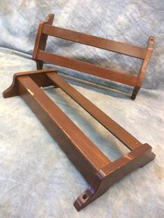 Vintage Oak Hymnal Rack From A Church Pew Great For Books