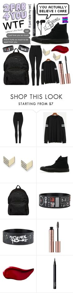 """Untitled #171"" by mcrsarah ❤ liked on Polyvore featuring Topshop, FOSSIL, Converse, Hogan, Kat Von D, NARS Cosmetics and Skullcandy"