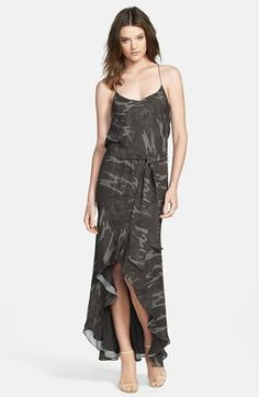 Haute Hippie Camo Silk High/Low Dress available at #Nordstrom