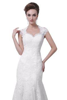 Dlass Elegant #Straps #Appliques #Mermaid #Wedding #Dresses #2015 #Bridal #Gown