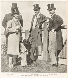 men should still wear top hats & tails. at the Melbourne Cup in the 1900's