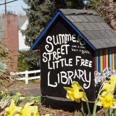 Salem's First Little Free Library via DIY studio, creative reuse in Salem Oregon