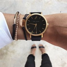 Our gorgeous BONDI STYLE timepiece. Unisex watch. Black and Gold. Australian Brand.