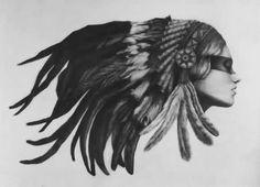 native american girl tattoo - Google Search