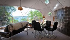 Eco pod - geodesic dome in scotland