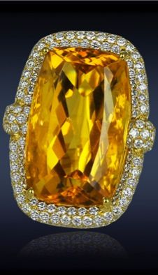 Citrine Diamond Ring by Jacob and Co.
