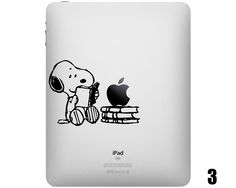 Five Snoopy iPad Decals - too bad I have to carry our iPad in a tac case....so cute!