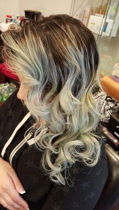 Gray Ombre hair.