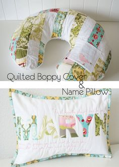 Quilted Boppy Cover & Pillow - LOVE it!