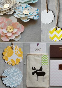 Adorable gift tags with chevron paper and twine. Great project for the Silhouette.