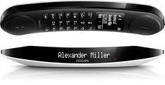 Σταθερή Τηλεφωνία : Ασύρματο Ψηφιακό Τηλέφωνο Philips Luceo M6601WB Λευκό - Μαύρο