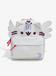Wear the majesty that is a Pusheen Super Pusheenicorn mini backpack and live your best life. Front zip pocket, adjustable purple straps, pink carry strap and, yes, wings! Cute Mini Backpacks, Girl Backpacks, School Backpacks, Awesome Backpacks, Trendy Backpacks, Pusheen Unicorn, Bebidas Do Starbucks, Galaxy Backpack, Mini Mochila