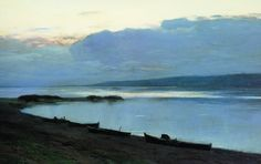 Isaac Levitan (Russian, 1860-1900), Evening on the Volga, 1888. Oil on canvas. The Tretyakov Gallery, Moscow.
