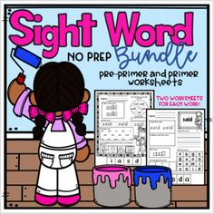 Sight Word No Prep Bundle (Pre-Primer and Primer) Sight Word Activities, Kindergarten Activities, Fun Activities, Kindergarten Teachers, Preschool, Reading Resources, Teaching Reading, Fun Learning, Guided Reading