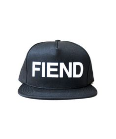 SSUR - FIEND Five Panel Snapback Hat, available at Lust Covet Desire