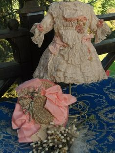 ~~~ Pretty Small French BeBe Costume with Straw Hat ~~~ from whendreamscometrue on Ruby Lane