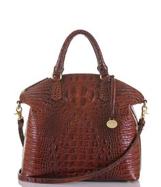Brahmin Large Duxbury Satchel Melbourne Look How He Masters The Art Of Croc Embossed Leather Looks Like Real Doesn T It