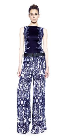 Isabel De Pedro, blue wide leg trousers, $485