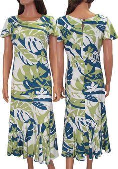 7fa5185993a Mid-Length Muumuus Dresses - Kapono – Twisted Palms Trading Co. Palm Tree  Dress