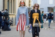 06-06 MILAN, ITALY - FEBRUARY 25: Maria Jernov wearing a striped... #tonder: 06-06 MILAN, ITALY - FEBRUARY 25: Maria Jernov… #tonder