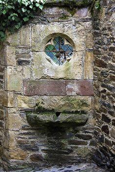 Medieval window in Pyrénées, France
