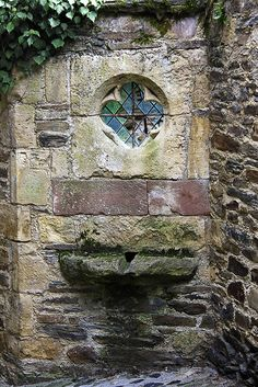 Medieval window in Estaing, Midi-Pyrénées, France