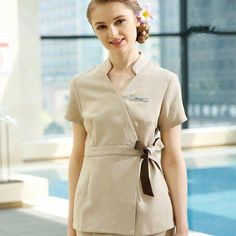 Beauty Salon Work Clothes 2019 New SPA Autumn And Winter Beauticians Dress Female Suit Medical Nurse Outfit Workwear Overalls, Workwear Store, Work Uniforms, Nurse Uniforms, Beauty Uniforms, New Kurti, Spa Uniform, White Lab Coat, Clothes 2019