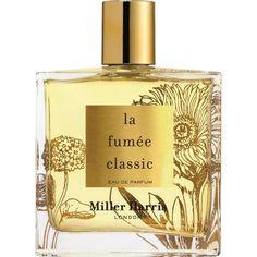 MILLER HARRIS La Fumée Classic eau de parfum 100ml ($200) ❤ liked on Polyvore featuring beauty products, fragrance, perfume, miller harris perfume, edp perfume, miller harris, parfum fragrance and eau de parfum perfume