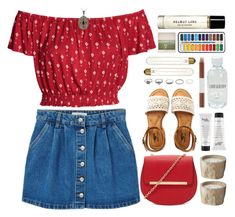 """""""off-the-shoulder"""" by doga1 ❤ liked on Polyvore featuring MANGO, Forever 21, Aéropostale, BKE, CB2, Faber-Castell, philosophy, Lord & Berry, Glitzy Rocks and Polaroid"""