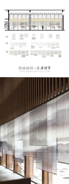 艺术面料--酒店、会所、售楼处室内设计应用:窗帘、窗纱、隔断、玄关、屏风