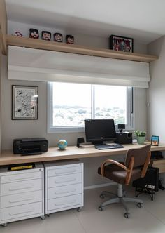 Trendy home office quarto branco Home Office Setup, Home Office Space, Home Office Design, House Design, Trendy Home, Home Decor Furniture, Bars For Home, Sweet Home, New Homes