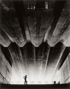 © Max Dupain, 1962, 'Concrete support beams (Sydney Opera House)' In the late 1940s Dupain increasingly specialised in architectural   photography and photo-documentary. He chose to work outdoors rather than   in the studio in order to capitalise on the bright Australian light,   wishing to show 'a thing clearly and simply'.